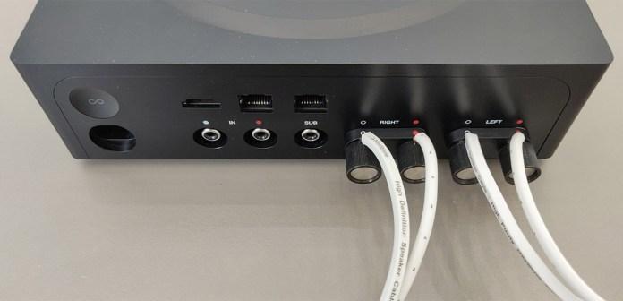 Sonos Amp : borniers enceintes à vis