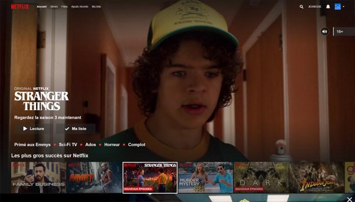 Stranger Things Saison 3 - Interface Netflix