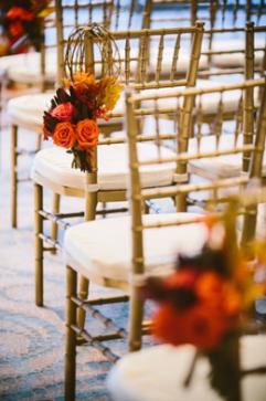 Boston wedding chair decorations Sonesta