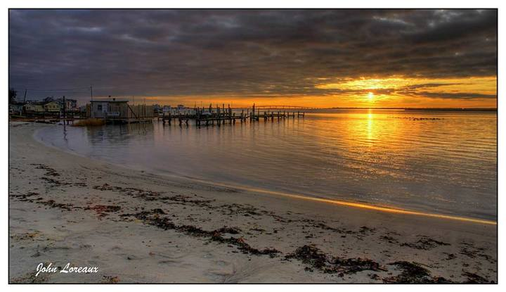 William-Morrow-Beach-at-Sunset---John-Loreaux