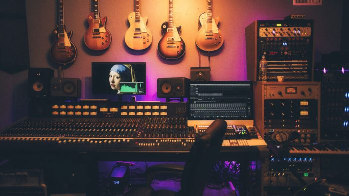Music producer's office