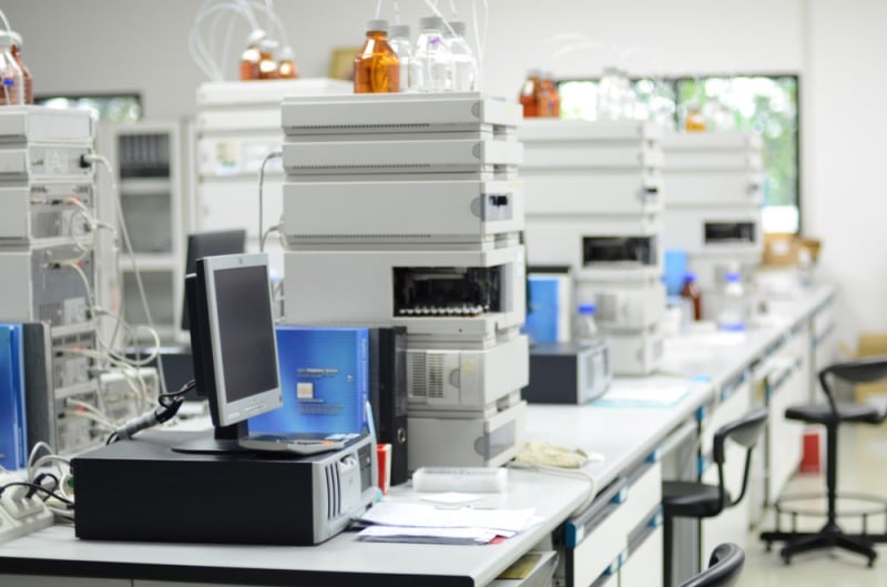 High performance chromatography lab where scoville testing takes place