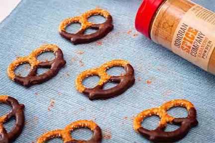 Habanero Chocolate Pretzels