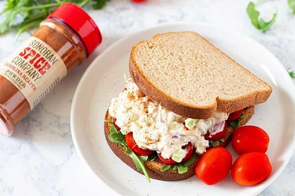 Carolina Reaper Chicken Salad Sandwich