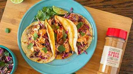 Fish Taco with Ghost Pepper Chipotle Lime Dressing