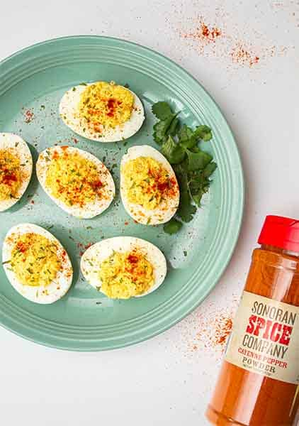 Spicy Cayenne Deviled Eggs