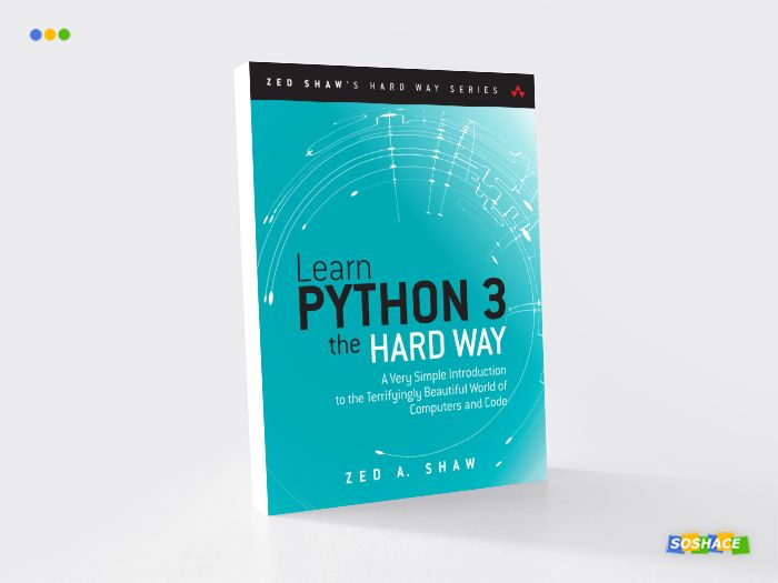 """artwork depicting a stylized cover of """"Learn Python the Hard Way)"""