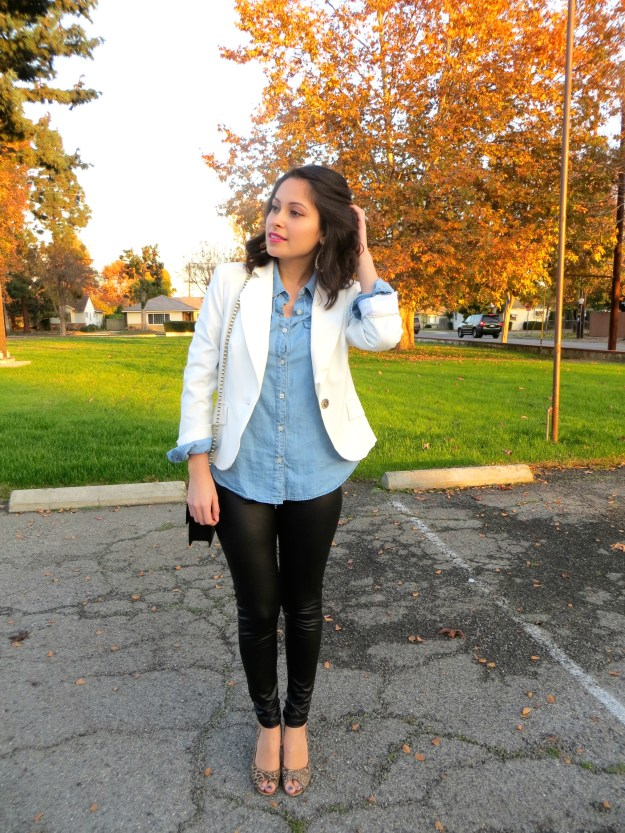 White Blazer in the Winter