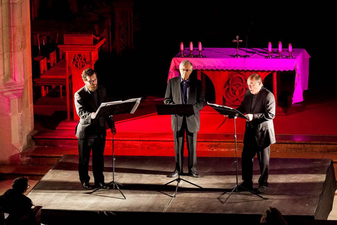 The singers: John Potter, Rogers Covey-Crump and Christopher O'Gorman