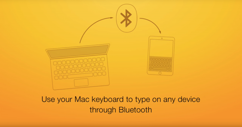 Use Your Mac Keyboad to type on any device through Bluetooth