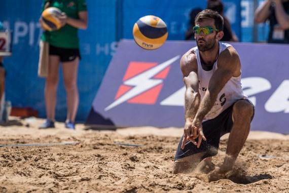 Damien Schumann beach volleyball player
