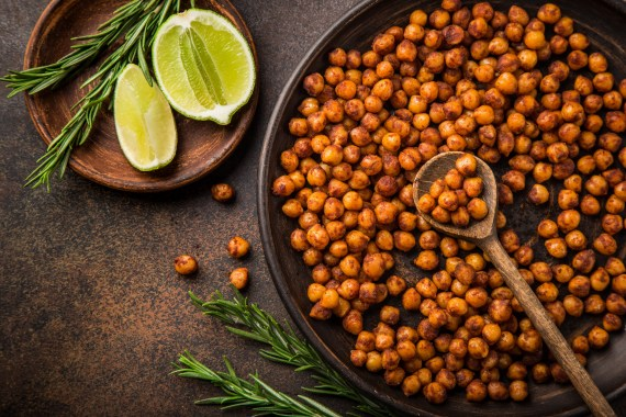 roasted chickpeas high protein snack