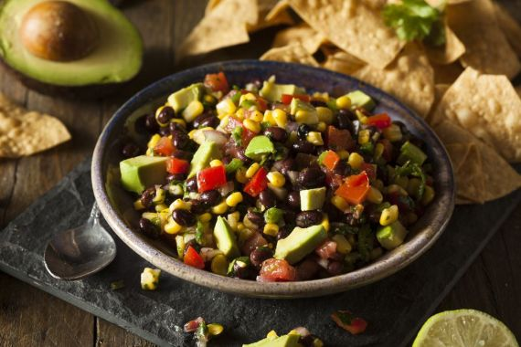 bean salsa avocado