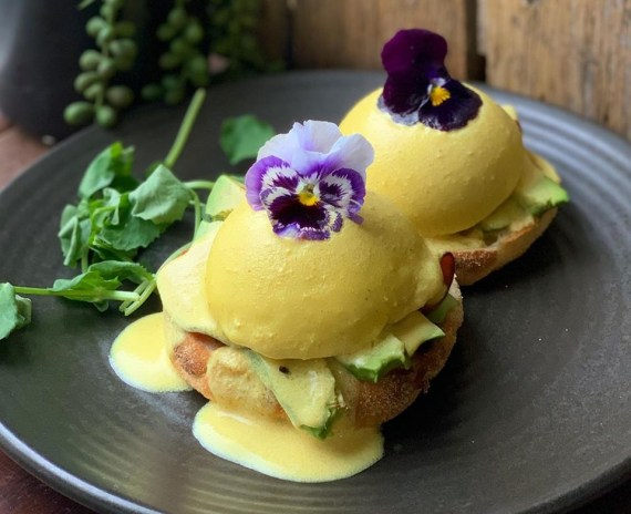 Plant-Based 'Eggs' Benedict at The Green Edge