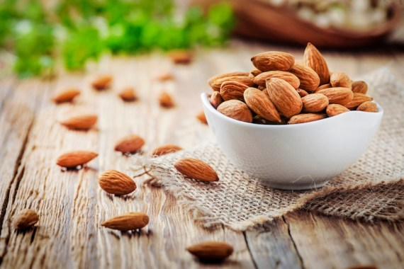 Almonds are a high-protein plant-based food