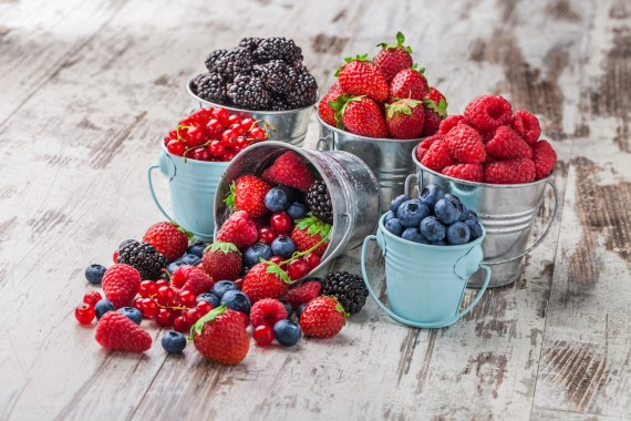 Berries are high in antioxidants