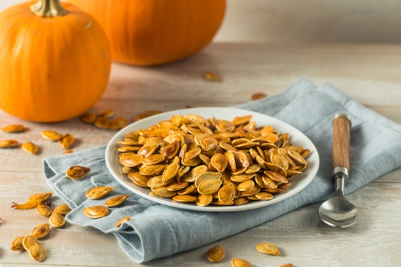 Pumpkin seeds are a high-protein plant-based food