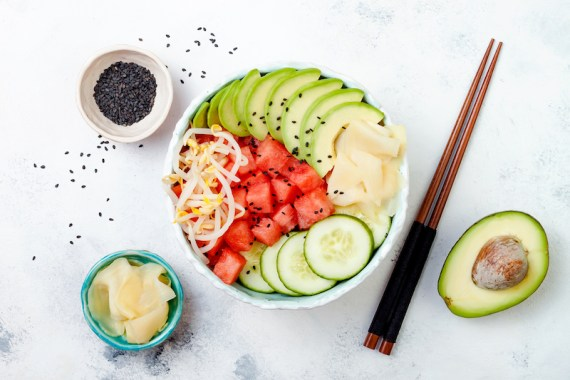 Plant-Based Trends Of 2021: Watermelon Poke Bowls