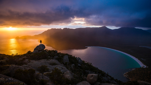 Sunrise at Wineglass Bay, Tasmania