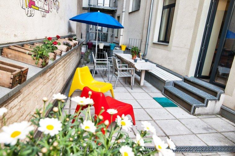 Garten des Loffice Loft Wien