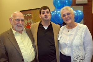 Pictured from left are Fred Merriam, Rod Keskiner and Lynne Merriam.