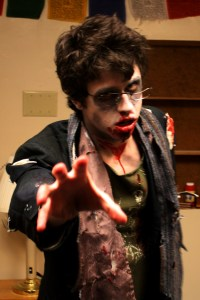 Spencer in his zombie costume.