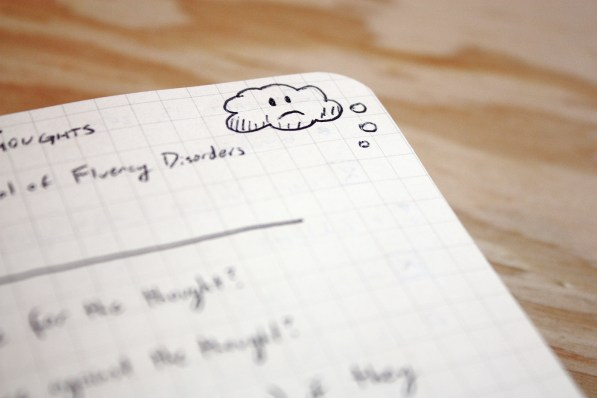 Bullet Journal - Unhelpful Thoughts Cloud