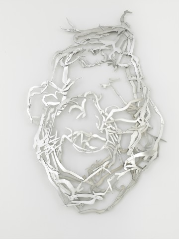 Der Weg zu Dir, 2014 Aluminium, 197 x 136 x 12 cm