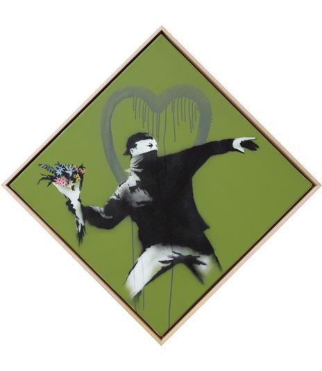 Love is in the Air - Banksy Flower Thrower verdoppelt seine Taxe und erzielt mit über einen viertel Million Euro einen Motiv-Rekord!