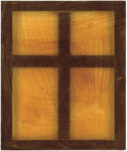 MARTIN KIPPENBERGER (1953-1997) Window latex rubber on wooden frame (60 x 50cm.) Executed in 1990 £20,000-30,000 $29,000-43,000 €27,000-39,000 PROVENANCE: Private Collection, Austria. LITERATURE: M. Kippenberger, Fama & Fortune Bulletin, no. 5, Vienna 1990 (illustrated, p. 12).