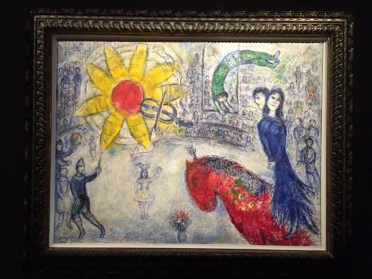 Vielleicht die repräsentativste von schätzungsweise 60 bis 70 angebotenen Chagall Arbeiten. Hier: Öl auf Leinwand von 1977 circa 120 x 80 cm bei Zakaim Fine Art für 4,75 Millionen USD