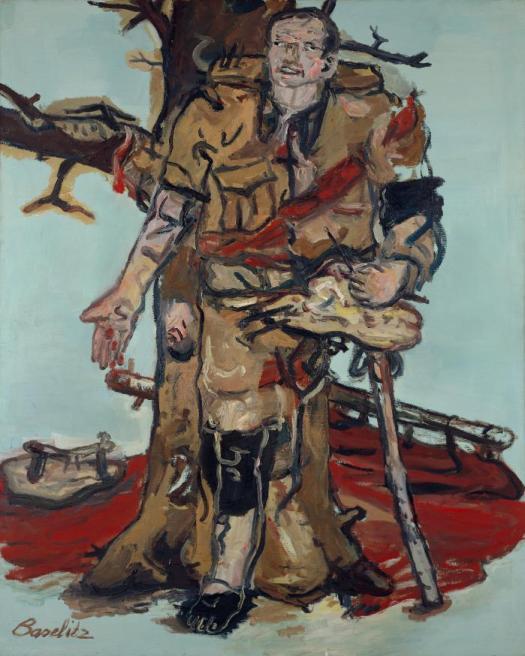Bildnachweis: Georg Baselitz (*1938), Versperrter Maler, 1965, Duisburg, Museum Küppersmühle für Moderne Kunst, Sammlung Ströher, © Georg Baselitz