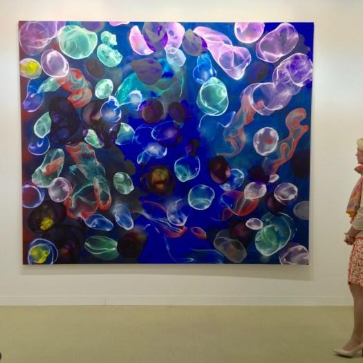 Jiří Georg Dokoupil mit einem 300 x 250 cm Großformat seiner beliebten Bubble-Series für 240 TEUR.