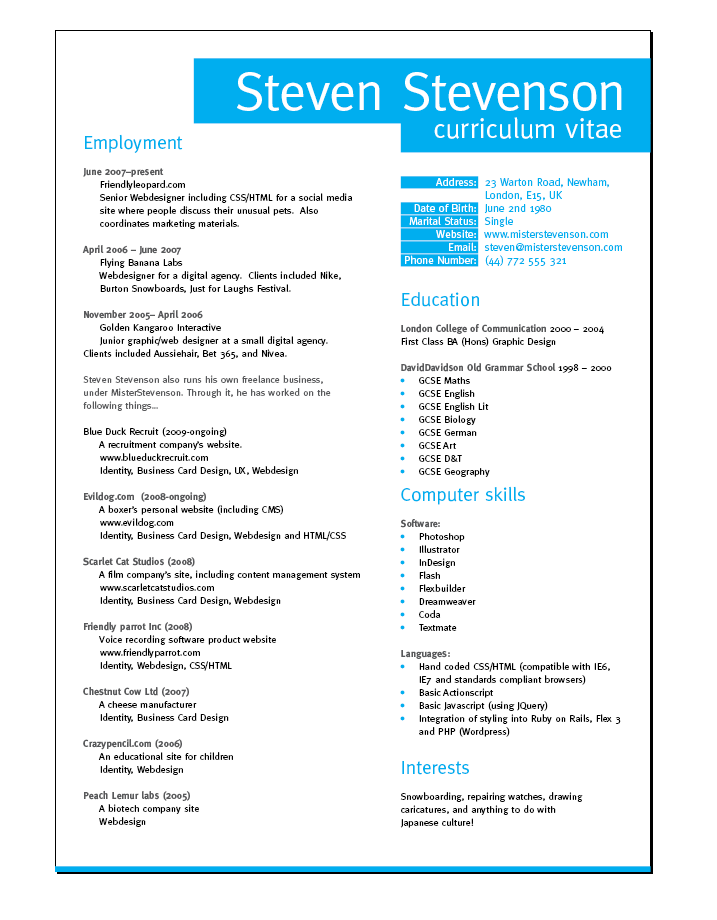 cv is a resume cv cv resume curriculum vitae sample cv best