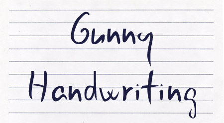 Gunny Handwriting font