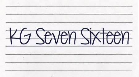 KG Seven Sixteen font