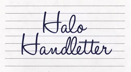 Halo Handletter font
