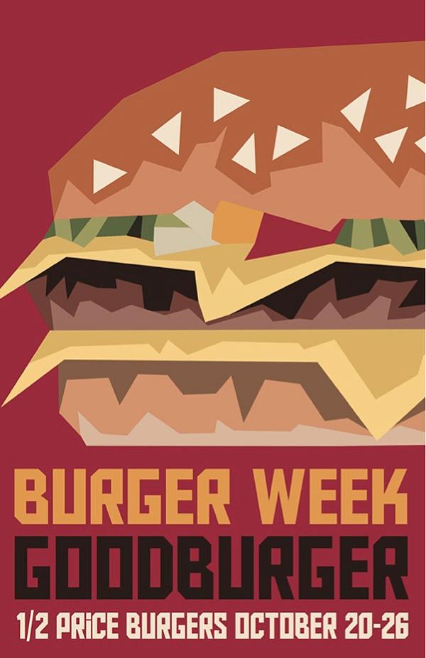 Goodburger Cubism Poster by Sarah Bladdick