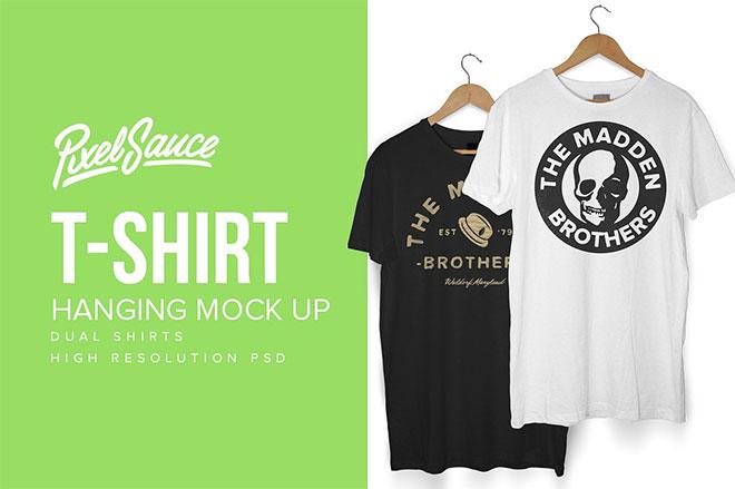 Hanging T-Shirt Mock Up