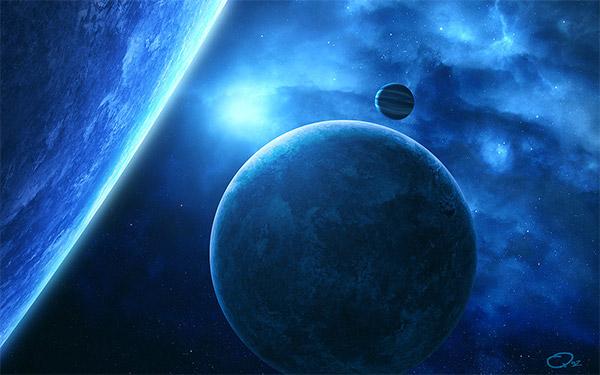 Blue Spacescape WP by QAuZ