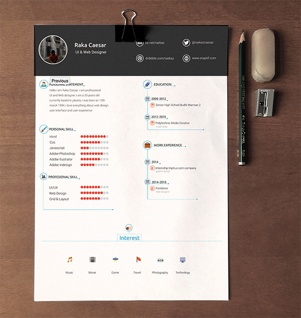 20 editable cv templates for ps ai