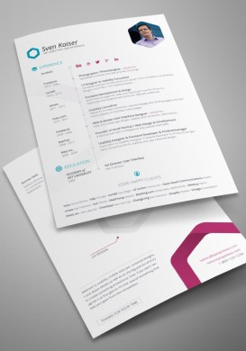 20 Free Editable CV Resume Templates for PS   AI Free Vita   Resume   CV InDesign Template by TapTapIdeas