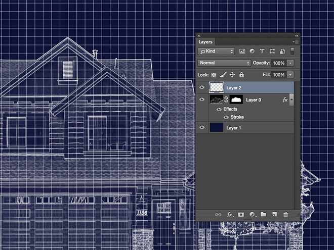 Create a blueprint effect in adobe photoshop and return to the blueprint effect create a new layer and select the fill tool change the dropdown menu in the header from foreground to pattern malvernweather Images