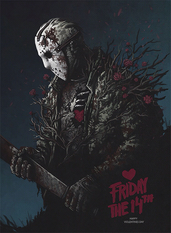 Friday The 14th - Happy Violentines Day by Yuri Shwedoff