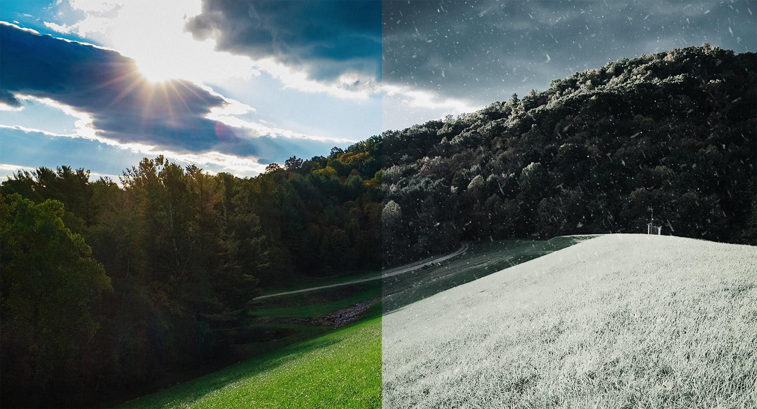 How To Change A Photo From Summer To Winter In Photoshop