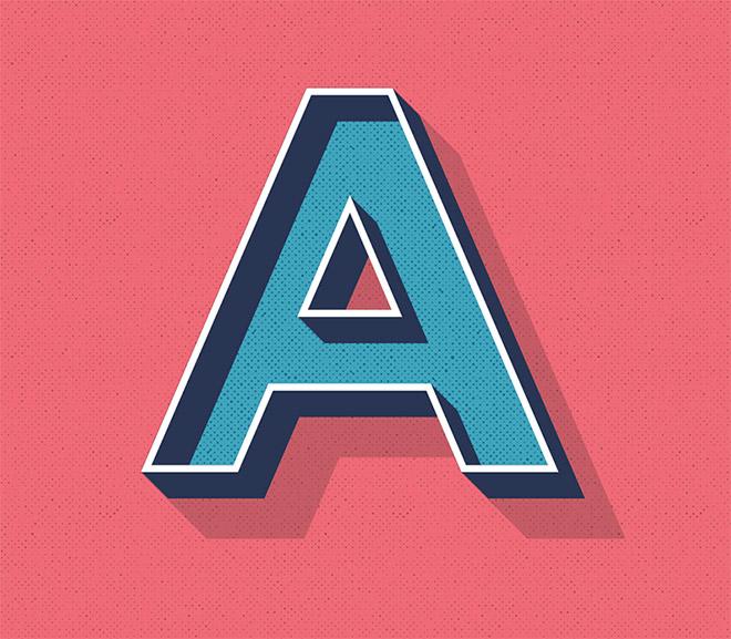 Editable Retro Text Style in Illustrator