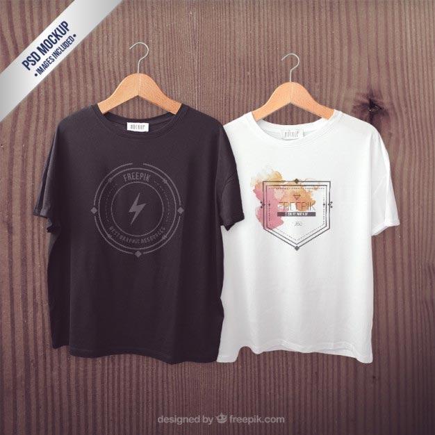 T-shirts mockup Free Psd