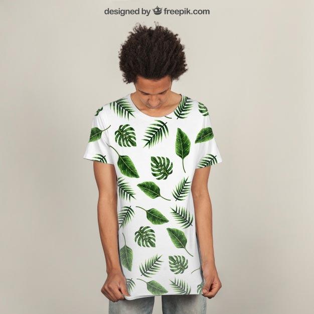 T-shirt print mockup Free Psd