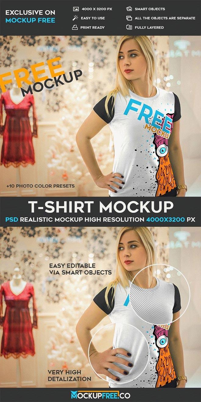 T-Shirt – Free PSD Mockup