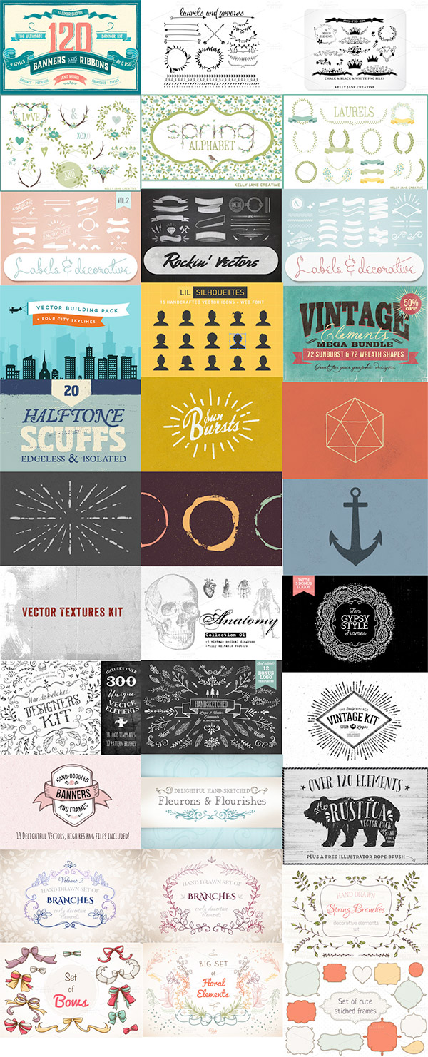 The Ultimate Creative Vector Elements Collection
